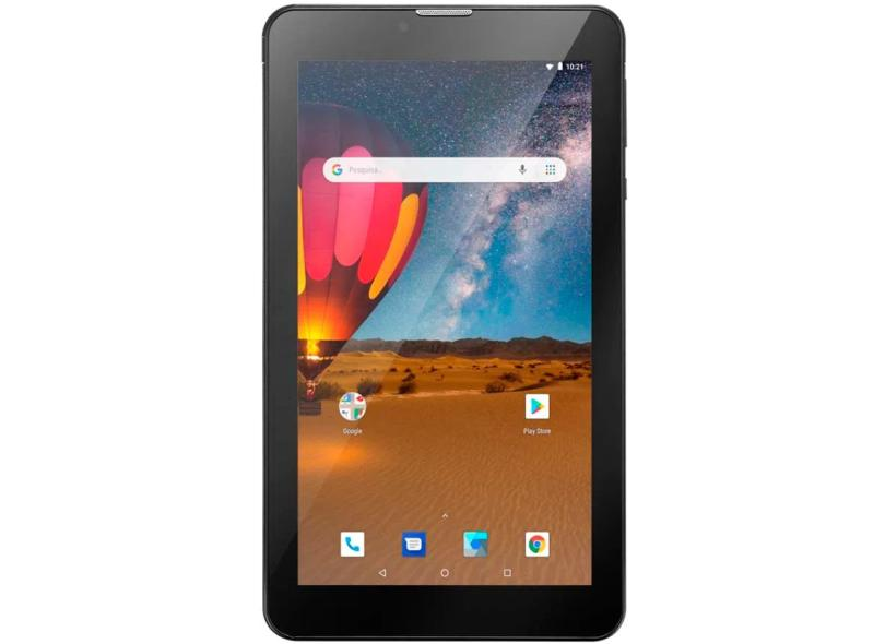 """Tablet Multilaser M7 Plus Quad Core 3G 16.0 GB LCD 7.0 """" Android 8.1 (Oreo) 2.0 MP NB304"""
