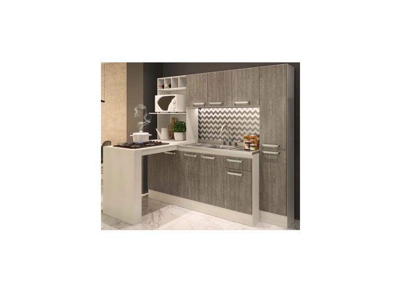 Cozinha Completa 1 Gaveta 10 Portas para Micro-ondas / Forno para Cooktop Alice 7080 Cadorin