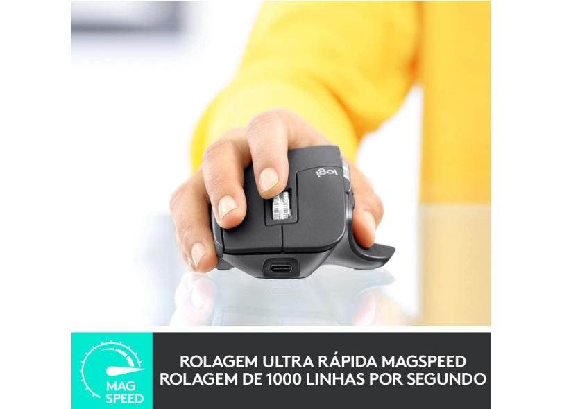 Mouse Laser sem Fio MX Master 3 - Logitech