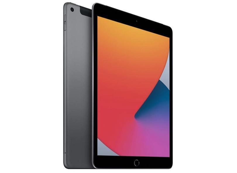 """Tablet Apple iPad 8ª Geração Apple A12 Bionic 4G 128GB Retina 10,2"""" iPadOS 14 8 MP"""