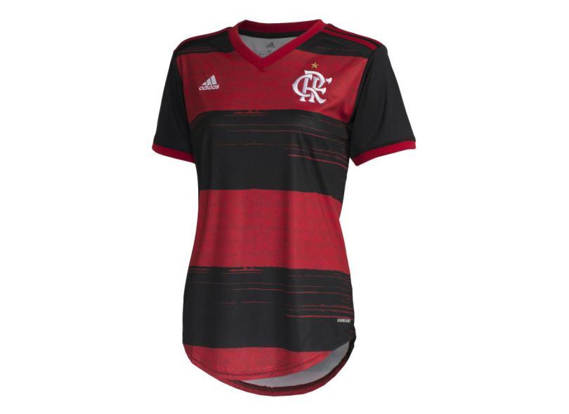 Camisa Torcedor Feminina Flamengo I 2020/21 Adidas