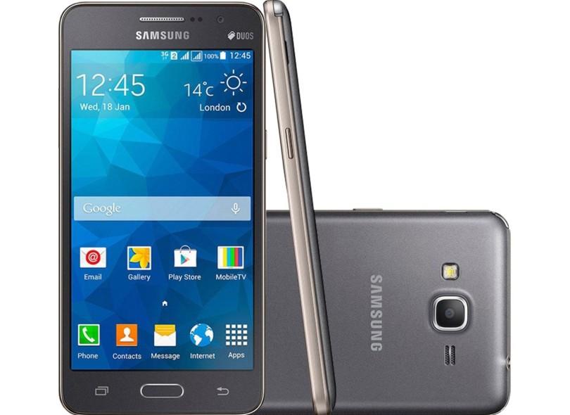 Smartphone Samsung Galaxy Gran Prime Duos TV G530BT Câmera 8,0 MP 2 Chips 8GB Android 4.4 (Kit Kat) 3G Wi-Fi