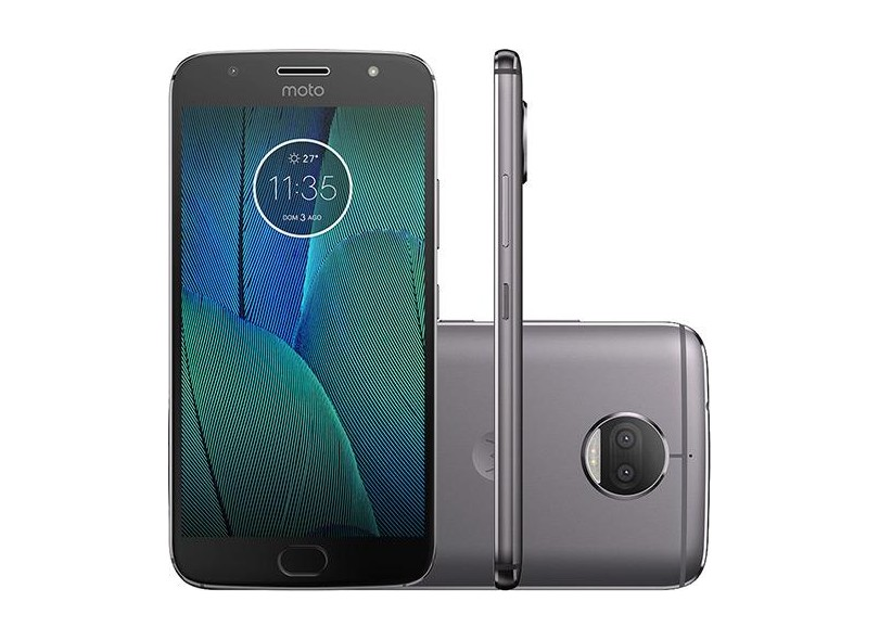 Smartphone Motorola Moto G G5S Plus TV Digital 32GB XT1802 13,0 MP 2 Chips Android 7.1 (Nougat) 3G 4G Wi-Fi