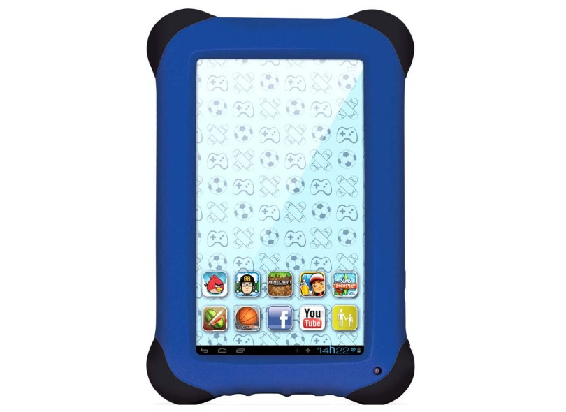"""Tablet Multilaser 8.0 GB LCD 7 """" Android 4.2 (Jelly Bean Plus) Kid Pad NB124"""
