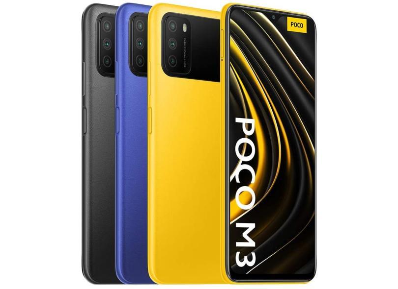 Smartphone Xiaomi Pocophone Poco M3 64GB Câmera Tripla 2 Chips Android 10