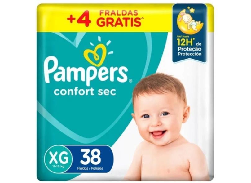 Fralda Pampers Confort Sec XG 38 Und 11 - 15kg
