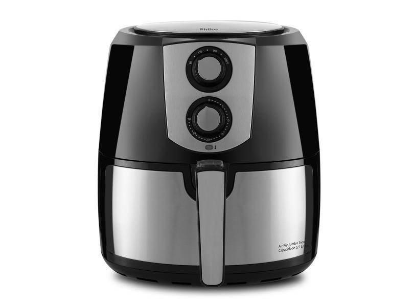 Fritadeira Elétrica Sem óleo Philco Air Fryer Air Fry Jumbo PFR06PI 5.5 l Inox