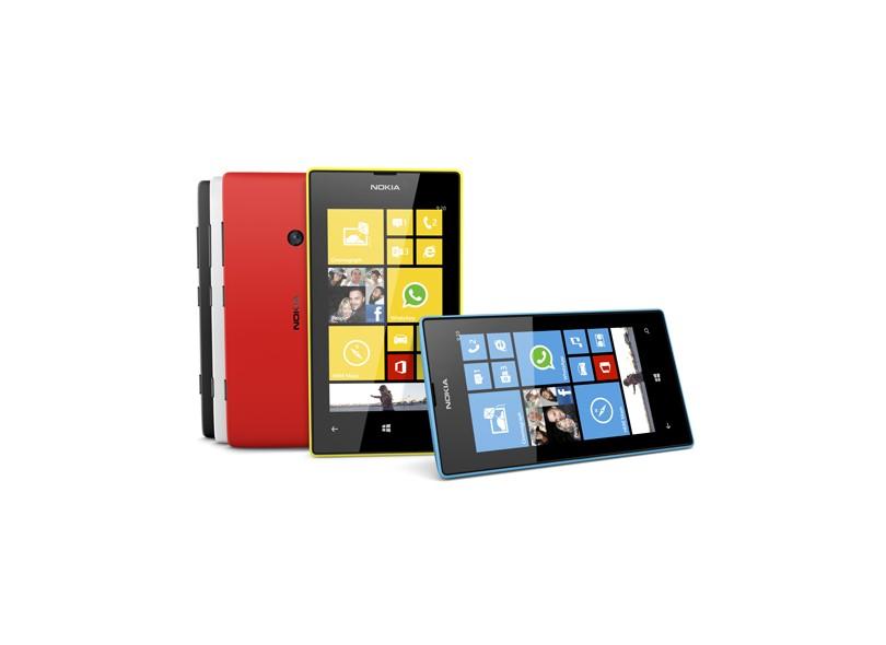 Smartphone Nokia Lumia 520 Câmera 5,0 Megapixels Desbloqueado 8 GB Windows Phone 8 Wi-Fi 3G