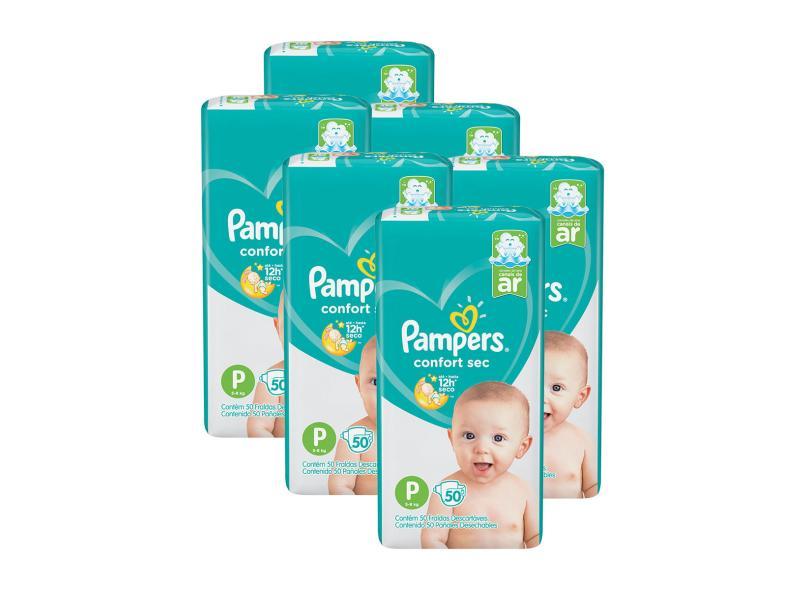 Fralda Pampers Confort Sec P Mega 50 Und 5 - 8kg