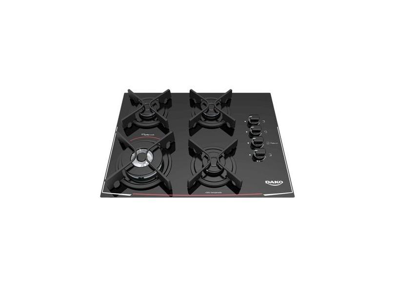 Cooktop Dako 4 Bocas Acendimento Automático Turbo Cook DC4VTZ-PS0
