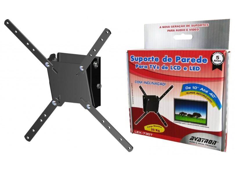 "Suporte para TV LCD/LED/Plasma Parede 10"" a 40"" Avatron LEX-730T"