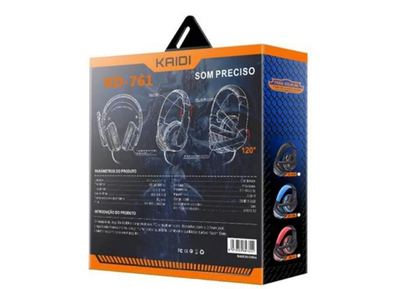 Headset Gamer com Microfone Kaidi KD-761