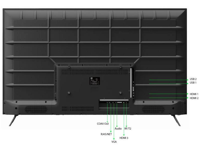 """Smart TV TV LED 55"""" HQ 4K HQSTV55NY 3 HDMI"""