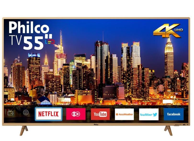 "Smart TV TV LED 55 "" Philco 4K Netflix PTV55F61SNC 3 HDMI"
