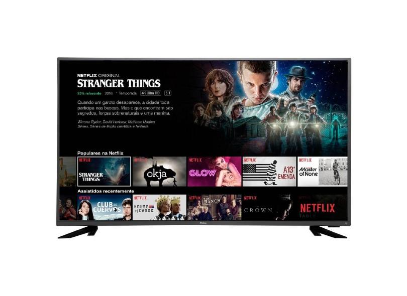 "Smart TV TV LED 43"" Philco 4K Netflix PTV43F61DSWNC 3 HDMI"