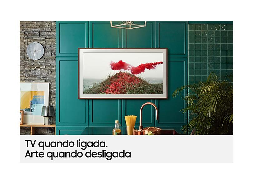 """Smart TV TV QLED 50 """" Samsung The Frame 4K HDR 50LS03A 4 HDMI"""