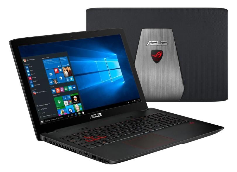 "Notebook Asus ROG Intel Core i5 6300HQ 8 GB de RAM HD 1 TB LED 15.6 "" GeForce GTX 960M Windows 10 Home GL552VW"