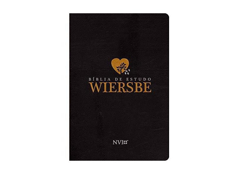 Bíblia de Estudo Wiersbe - Luxo Preta - Wiersbe, Warren W. ; - 9788580641905