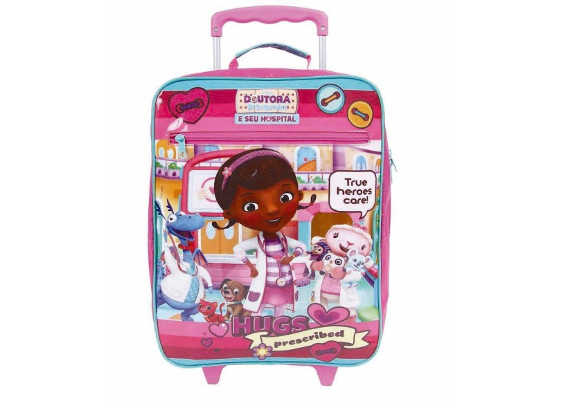 Mochila com Rodinhas Escolar Dermiwil Disney Doutora Brinquedos G Plus 30172