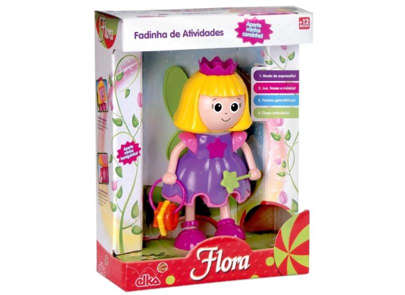 Boneca Flora Fadinha de Atividades Elka