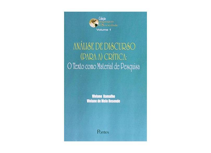 Analise De Discurso (Para A) Critica - Viviane Ramalho - 9788571133365