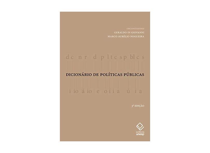 Dicionário de Politicas Publicas - Geraldo Geovanni - 9788539307364
