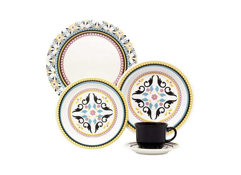 Aparelho de Jantar Redondo de Porcelana 30 Peças - Oxford Porcelanas Mail Order Luiza