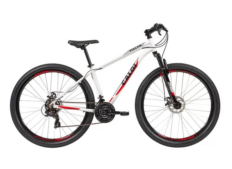 Bicicleta Mountain Bike Caloi 21 Marchas Aro 29 Suspensão Dianteira Freio a Disco Mecânico Vulcan