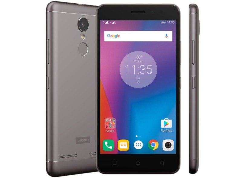 Smartphone Lenovo Vibe K6 32GB PA540051BR 2 Chips Android 6.0 (Marshmallow) 3G 4G Wi-Fi