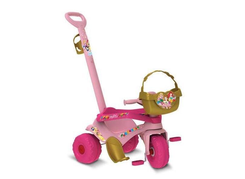 Triciclo com Pedal Bandeirante Motoka Passeio e Pedal Princesas Disney