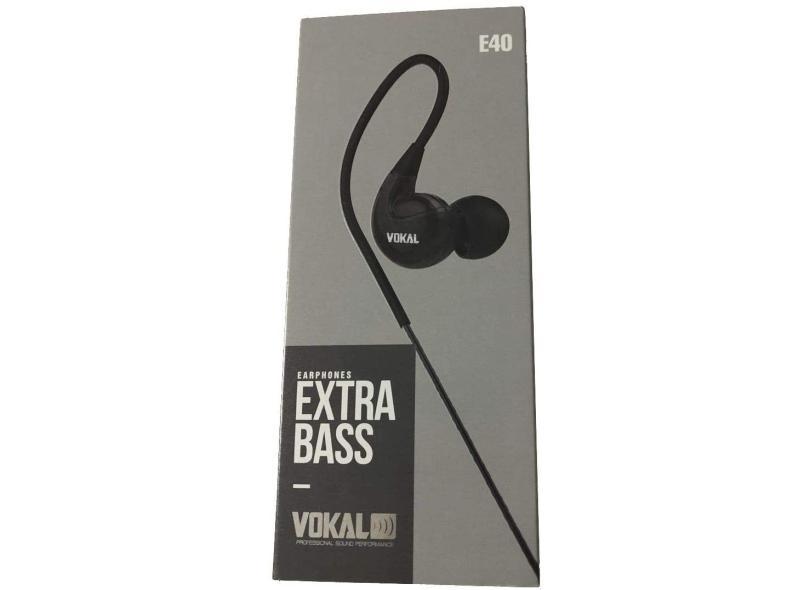 Fone de Ouvido Vokal E40 Extra Bass