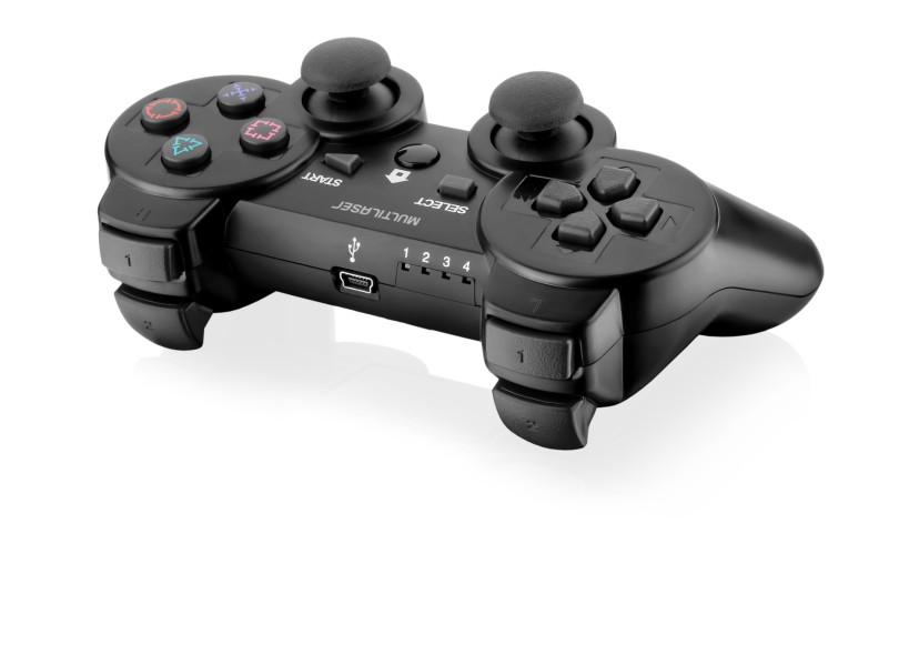 Controle Playstation 2 Playstation 3 PC sem Fio JS071 - Multilaser