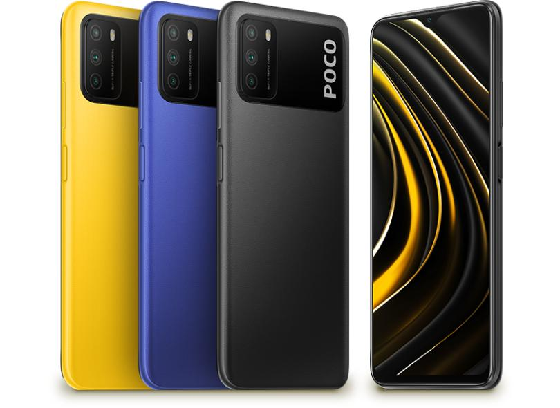 Smartphone Xiaomi Pocophone Poco M3 128GB Câmera Tripla 2 Chips Android 10