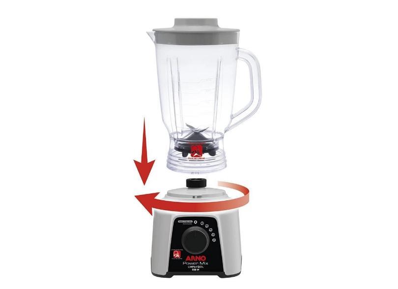 Liquidificador Arno Power Mix Limpa Fácil 2,5 Litros 5 Velocidades 550 W