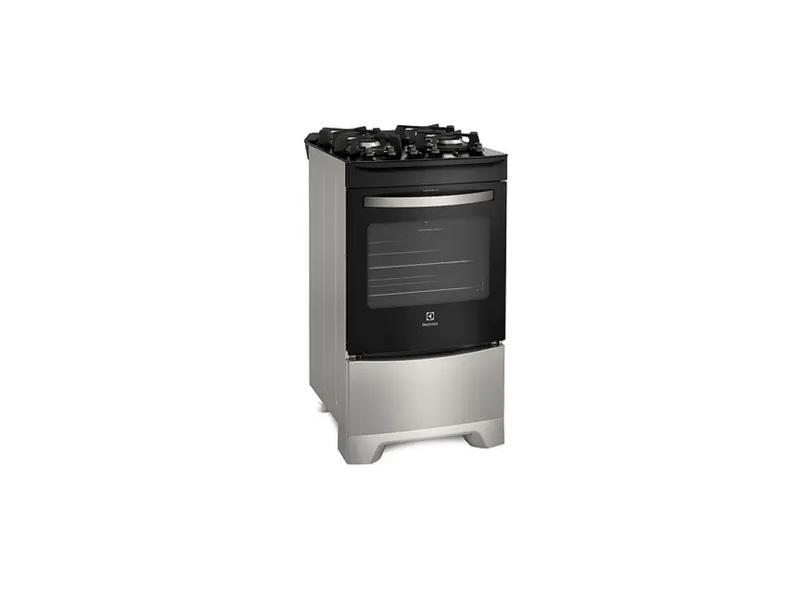 Fogão de Piso Electrolux 4 Bocas Acendimento Automático 52LSV