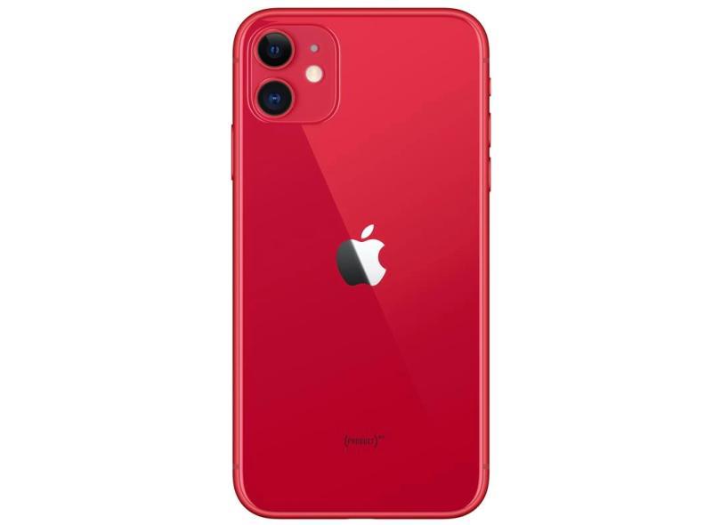 Smartphone Apple iPhone 11 Vermelho 64GB Câmera Dupla iOS 13