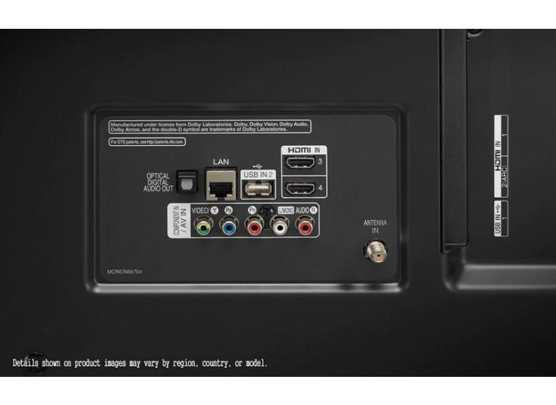 "Smart TV TV LED 75 "" LG ThinQ AI 4K HDR 75UN801C0SB 4 HDMI"