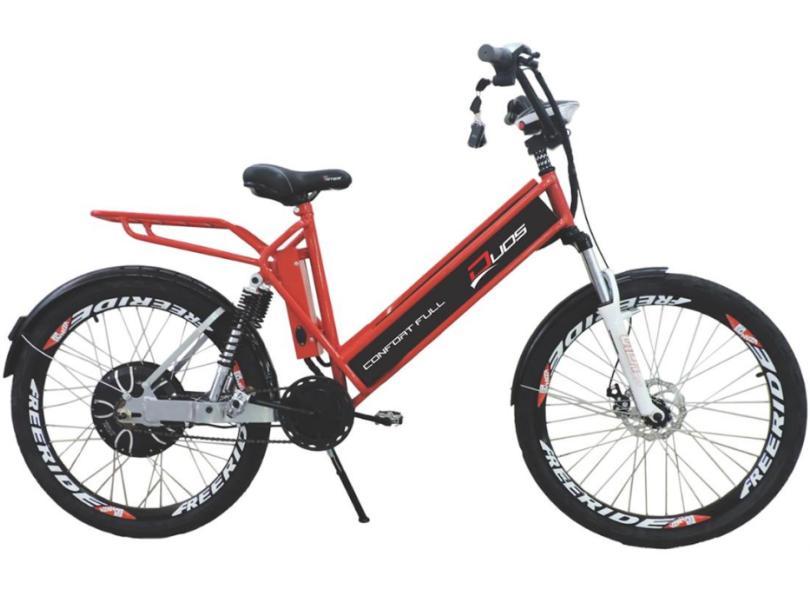 Bicicleta Elétrica Duos Bikes Aro 26 Suspensão Dianteira a Disco Mecânico Confort Full