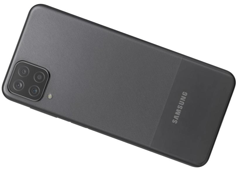 Smartphone Samsung Galaxy A12 SM-A125MZ 4 GB 64GB Câmera Quádrupla MediaTek Helio P35 2 Chips Android 10