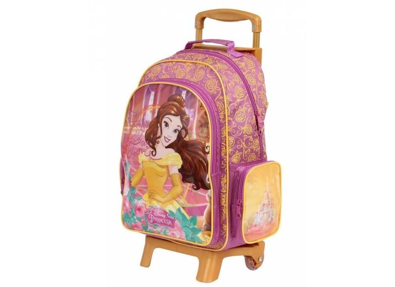 Mochila com Rodinhas Escolar Dermiwil Disney A Bela e a Fera G 36912