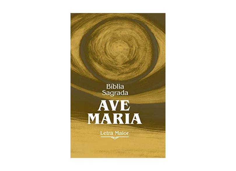 Bíblia Sagrada Ave-Maria - Letra Maior - Zíper Marrom - Ave-maria - 9788527615853