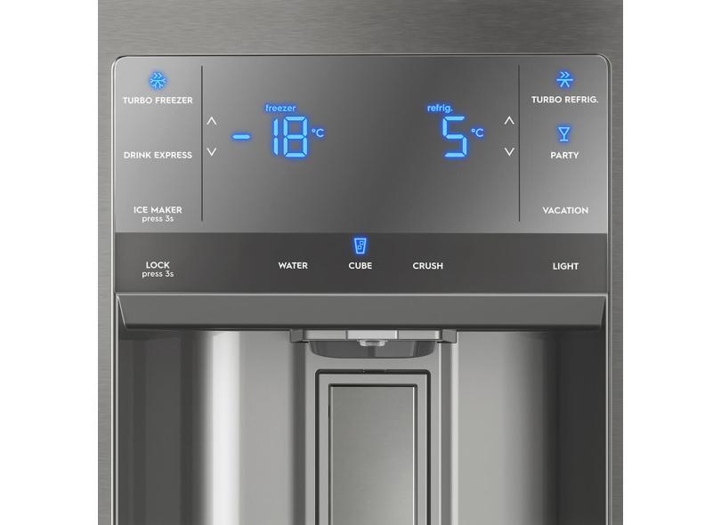 Geladeira Electrolux Frost Free French Door Inverse 540 l Inox DM90X