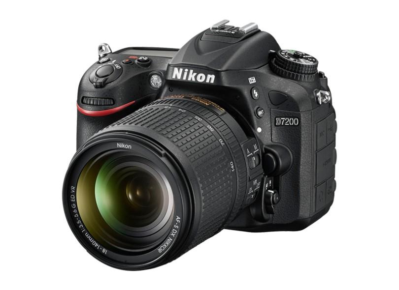 Câmera Digital DSLR(Profissional) Nikon 24,2 MP Full HD D7200