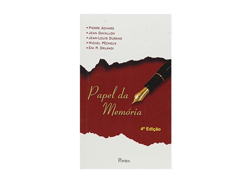 Papel da Memória - Pierre Achard - 9788571131279