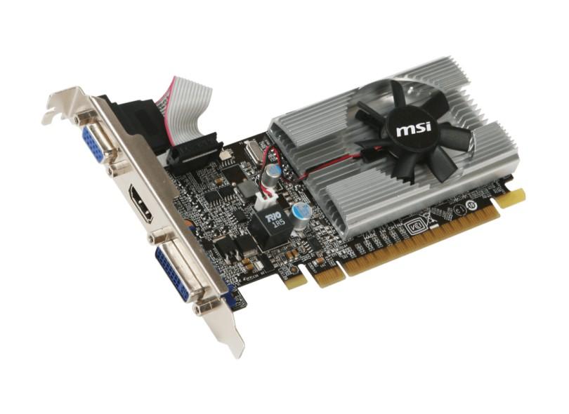 Placa de Video NVIDIA GeForce ão possui 210 1 GB DDR3 64 Bits MSI N210-MD1G/D3