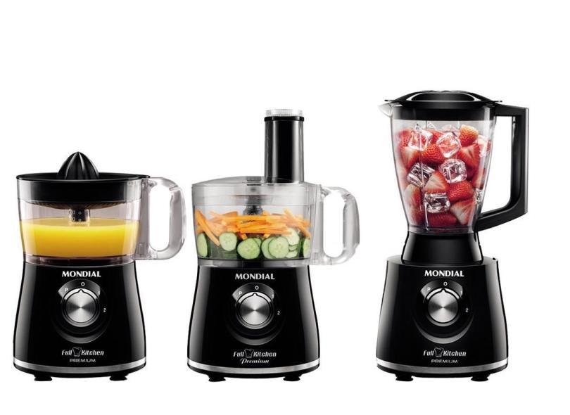 Processador de Alimentos com Liquidificador Mondial Full Kitchen Premium MP-08 500 W