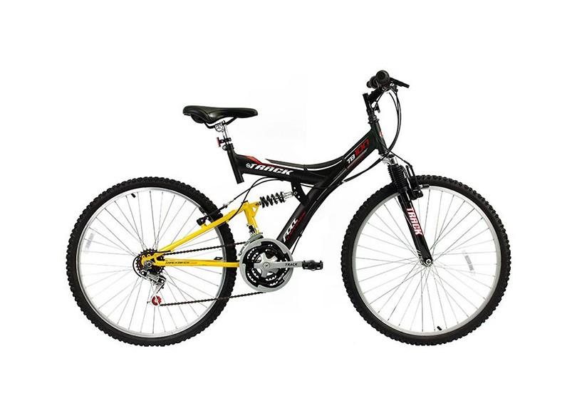 Bicicleta TRACK & BIKES Adulto Mountain Bike Aro 26 18 Marchas Suspensão Full Suspension TB100XS