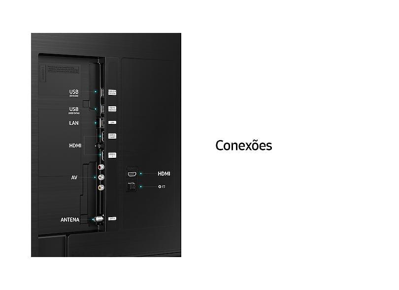 """Smart TV TV LED 50 """" Samsung Crystal 4K HDR 50AU8000 3 HDMI"""