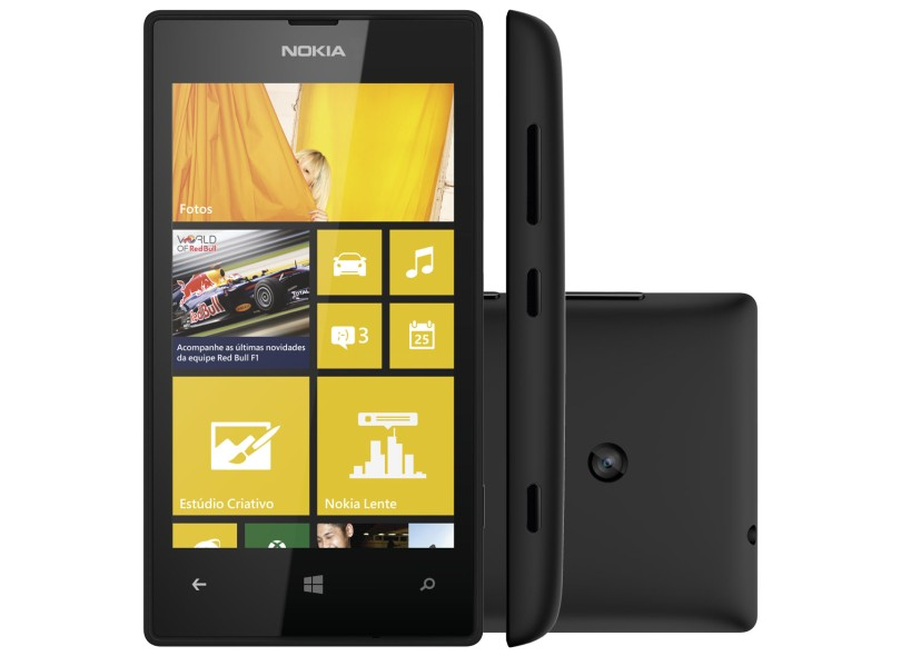 Smartphone Nokia Lumia 520 Câmera 5,0 MP 8GB Windows Phone 8 3G Wi-Fi