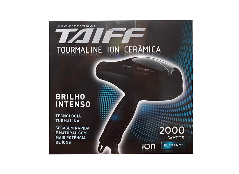 Secador de Cabelo Profissional Emissão de Íons com Ar Frio 1900 Watts - Taiff Tourmaline Íon Cerâmica